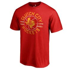 Men's Houston Rockets Fanatics Branded Red Hometown Collection Clutch Shot T-Shirt