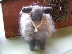 Leicester Long Wool Sheep Needle Felted.