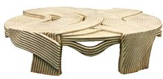 """1970's """"Rope"""" coffee table"""