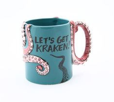 Make one special photo charms for you, compatible with your Pandora bracelets. Octopus mug personalized mug let's get kraken octopus by LennyMud My Coffee, Coffee Cups, Stars Disney, Funny Gifts For Him, Octopus Art, Kraken Octopus, Octopus Crafts, Cool Mugs, Personalized Mugs