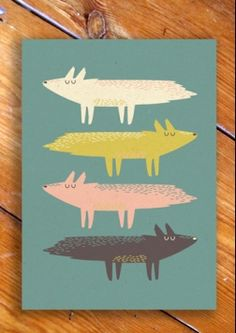 Fox Stack. 0406.    Designed By Paper And Cloth.