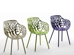 FOREST | Garden chair with armrests - FAST