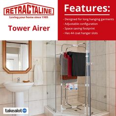 The new @retractaline #tower #airer is perfect for #maximizing #space from @TAKEALOT get yours today. Wire Shelving, Shelves, Clothes Dryer, Love Your Home, Coat Hanger, Space Saving, Small Spaces, Laundry, Tower