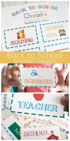 Despair In Youngsters - Realize To Get Rid Of It Wholly Back To School Charades Free Printable This Free Printable For Back To School Will Get Kids Excited And Focused Bring In The Fun Urbanblisslife For Today's Creative Life Back To School Party, Back To School Crafts, Back To School Teacher, School Parties, First Day Of School, School Fun, School Stuff, Charades, Free Art Prints