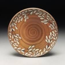 Plate by Kyle Carpenter, Asheville, NC. Painted Ceramic Plates, Ceramic Clay, Ceramic Painting, Ceramic Bowls, Pottery Plates, Ceramic Pottery, Pottery Art, Pottery Studio, Pottery Painting Designs
