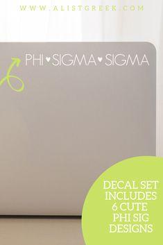 The perfect Phi Sigma Sigma laptop decal from www.alistgreek.com! #sororitysticker #greekletters #sororityletters #cardecal #laptopsticker #statesticker #sticker #decal #phisigmasigma #phisig #phisigdecal #phisigsticker #biddaygifts