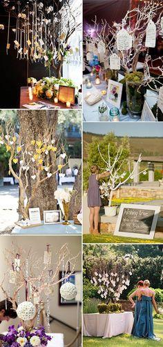 wishing tree wedding guest book ideas