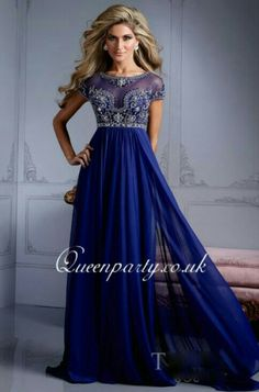 Blue prom dress Queenparty.co.uk