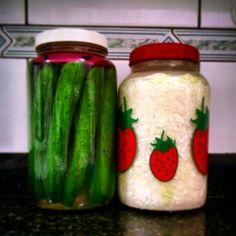 Sauerkraut und Salzgurke