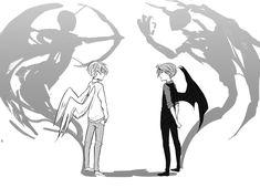 Anime Angel And Demon Wings Anime Demon Boy, Anime Angel, Angel Drawing, Boy Drawing, Drawing Base, Demon Drawings, Easy Drawings, Hand Manga, Arte Obscura