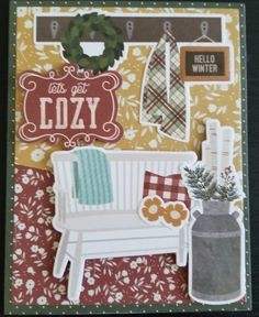 Simple Stories Winter Farm House.  Design by Debra Lord for Scrappin' in the City. Simple Stories, Farm House, Lord, House Design, City, Fall, Winter, Autumn, Lorde
