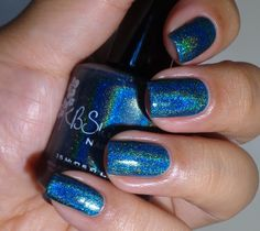KB Shimmer: ☆ Up And Cunning ☆ ... a blue holographic nail polish from the KBShimmer Fall 2014 Collection