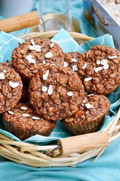 Muffinki owsiane z marchewką i cynamonem Baby Food Recipes, Sweet Recipes, Cake Recipes, Healthy Breakfast Recipes, Healthy Desserts, Good Food, Yummy Food, Muffins, Happy Foods
