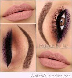 Pink, purple and brown makeup inspiration