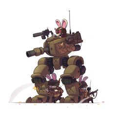 Furry Warfare on Behance