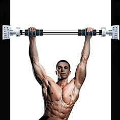 Body Muscle Barbell Doorway Sit Up Bar Fit Door Exercise Fitness Weight Strength