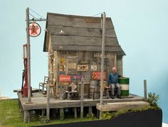 Railroad Line Forums - Let's see some waterfront scenery and structures Small Wooden House, Wooden Bird Houses, Scale Model Architecture, N Scale Layouts, Ho Model Trains, Garden Railroad, Water Effect, Cafe House, Wargaming Terrain