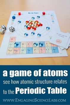 Do your students like to play games? I like this one because it doesnt rely on prior knowledge and yet it still teaches them as they play. Great for middle school science students who are studying atoms and the periodic table. If youre building models, Chemistry Classroom, High School Chemistry, Chemistry Lessons, Teaching Chemistry, Science Chemistry, Science Student, Middle School Science, Science Lessons, Science Education