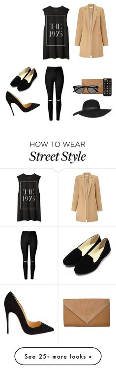 """""""Street style"""" by danidlinker on Polyvore featuring Miss Selfridge, Christian Louboutin, Topshop, women's clothing, women, female, woman, misses and juniors"""