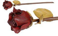 Send a wood-carved rose that will last forever this Valentine's Day.
