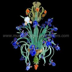 @sieguzi Robin says: D-light-ful!! iris-flowers-12-lights-murano-glass-chandelier