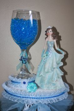 Items similar to quinceanera, sweet 16 centerpiece on Etsy Sweet 15 Quinceanera, Quinceanera Cakes, Quinceanera Centerpieces, Quinceanera Dresses, Sweet 16 Centerpieces, Candle Centerpieces, Shower Centerpieces, Quince Decorations, Wedding Decorations