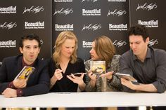 Confusion for the cast at the CD signing of Beautiful: the Carole King Musical.