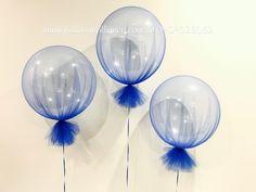 """""""Royal Blue Tulle Balloons"""" #tulleballoons #tulleballoonscanberra #heliumballoonscanberra #canberraballoons #balloonscanberra #act #cbr #BalloonBrilliance"""