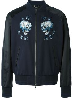DIESEL Embroidered Skull Bomber Jacket. #diesel #cloth #jacket