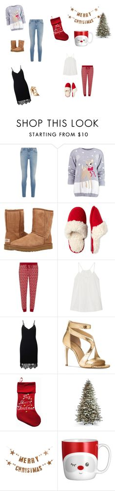 """""""Christmas"""" by johanne-moen on Polyvore featuring Givenchy, Boohoo, UGG, Dearfoams, Dorothy Perkins, Skin, Miss Selfridge, Michael Kors, Frontgate and Bloomingville"""
