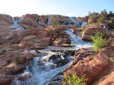 Gunlock Waterfalls and Ponds Yep, there's more in St. George than an outlet mall. The Gunlock waterfalls and ponds are located about ten miles from St. (That's about an hour and a half from Vegas. Utah Vacation, Vacation Trips, Vacation Destinations, Vacation Ideas, Vacation Spots, Vacations, The Places Youll Go, Places To See, St George Utah