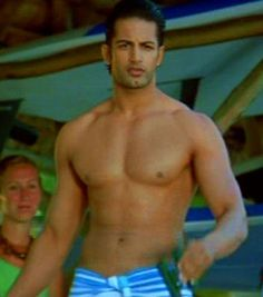 Upen Patel, Indian hunk, in a towel