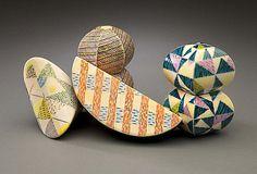 Ceramics, Karen Thuesen Massaro, Artist, NOVELLA, 2006, 4.25 x 9.75 x 6 inches, 4 parts, ceramic