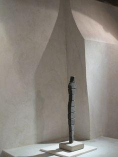 Kalkbruk - Omålad vägg putsad med St Astier kalkbruk