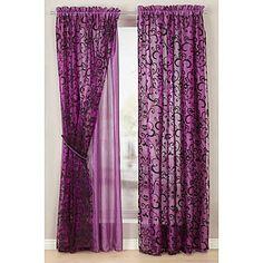 interiør lilla Curtains, Colour, Purple, Home Decor, Eggs, Color, Blinds, Decoration Home, Room Decor