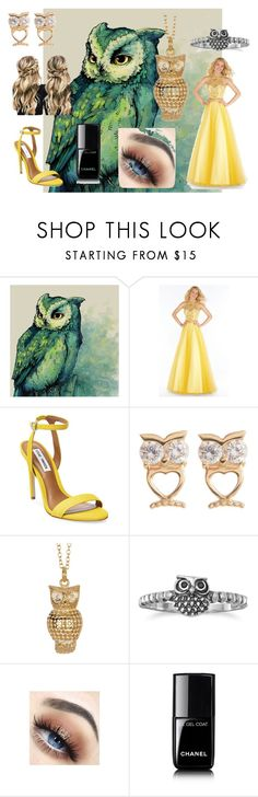 """""""#annabeth chase ball"""" by ronnie-555 on Polyvore featuring Alyce Paris, Steve Madden, Candela, Anna Beck, BillyTheTree and Chanel"""