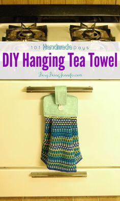 Growing up we always had a hanging tea towel on