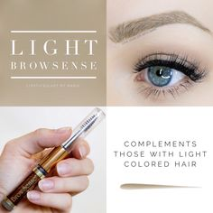 Light BrowSense Waterproof eyebrow filler.