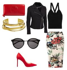 """Bez tytułu #16"" by anna-mikulska on Polyvore featuring moda, Dorothy Perkins, Bottega Veneta, Jimmy Choo, Yves Saint Laurent, Gucci, Elizabeth and James i plus size clothing"