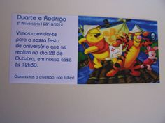 Convite Winnie the Poow