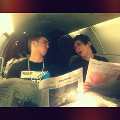 zach dorsey austins mahones bud | Austin and Zach fooling around, being sophisticated. More pictures ...