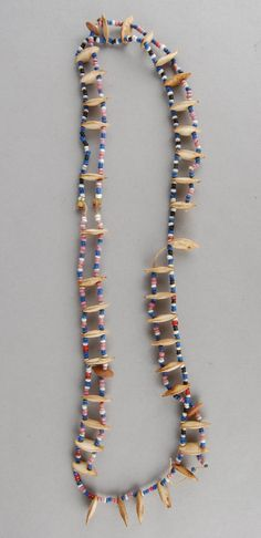 Full: Front A necklace of beads and pumpkin seeds. © The Trustees of the British Museum Necklace Types, Beaded Necklace, Necklaces, Xhosa, African Trade Beads, British Museum, Love Letters, African Art, Glass Beads