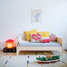 Eclectic and cute kids room