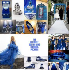 Doctor Who Wedding Theme Package. OMG I love it, but could never do it lol Doctor Who Wedding Theme Geek Wedding, Fantasy Wedding, Our Wedding, Dream Wedding, Doctor Who Party, Doctor Who Wedding, Dr Who, Wedding Vows To Husband, Theme Color