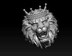 printable model lion ring with crown Jewelry Model, Wire Jewelry, Gold Jewellery, Paper Mache Animals, Greek Statues, 3d Printable Models, Lion Ring, Lion Art, 3d Prints