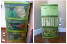 DIY: Plastic Drawer Covering