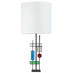 Colourful 1960s Svend Aage Holm Sorensen table lamp | From a unique collection of antique and modern table lamps at http://www.1stdibs.com/furniture/lighting/table-lamps/
