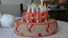 Gâteau d'anniversaire au crochet réalisation isadule daril