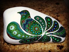 Image result for peacock painted stones#