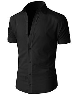 H2H Mens Casual Button down Shirts Slim Fit Short Sleeve Various ...